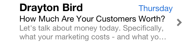 Drayton Bird Subject Line